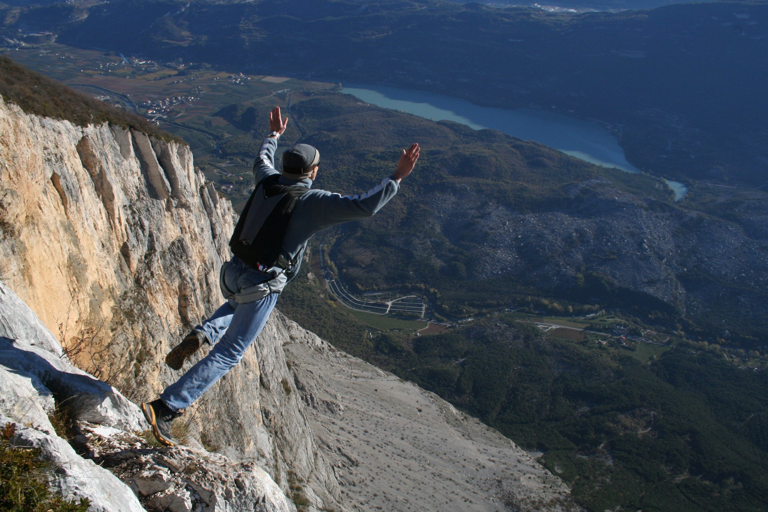 Base Jumping Adventure Sports Wallpaper