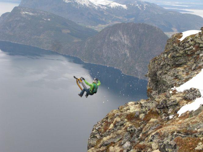 base jumping jump fly flight extreme dive diving sky (5)_JPG wallpaper