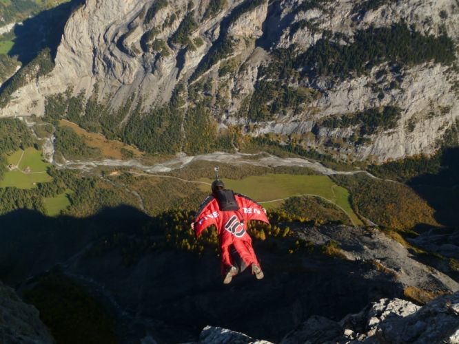 base jumping jump fly flight extreme dive diving sky (29) wallpaper