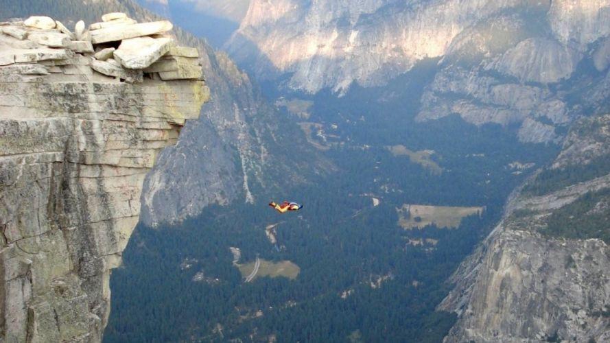 base jumping jump fly flight extreme dive diving sky (28) wallpaper