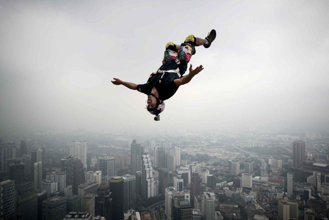 base jumping jump fly flight extreme dive diving sky (26) wallpaper