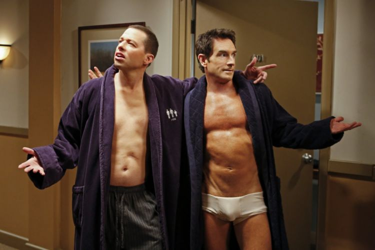 Two-And-A-Half-Men comedy sitcom television series two half men wallpaper