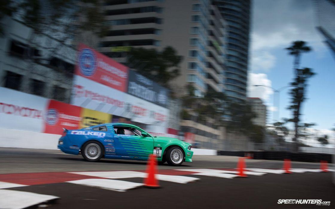 cars drifting cars vehicles Ford Mustang wallpaper