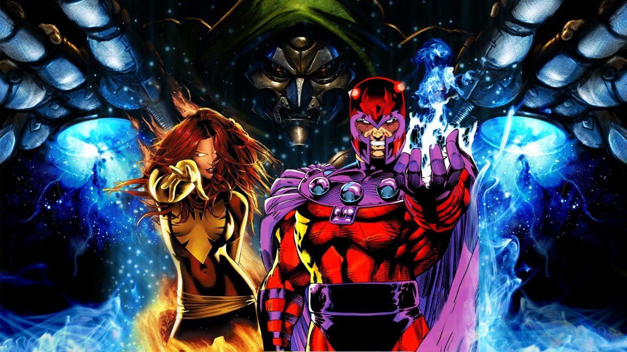 video games X-Men Jean Grey Magneto Marvel Comics Dr_ Doom Marvel Dark Phoenix Mitsubishi Evo wallpaper