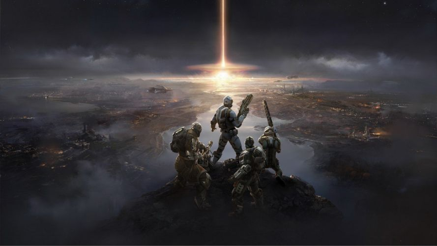 soldiers artwork apocalyptic wallpaper