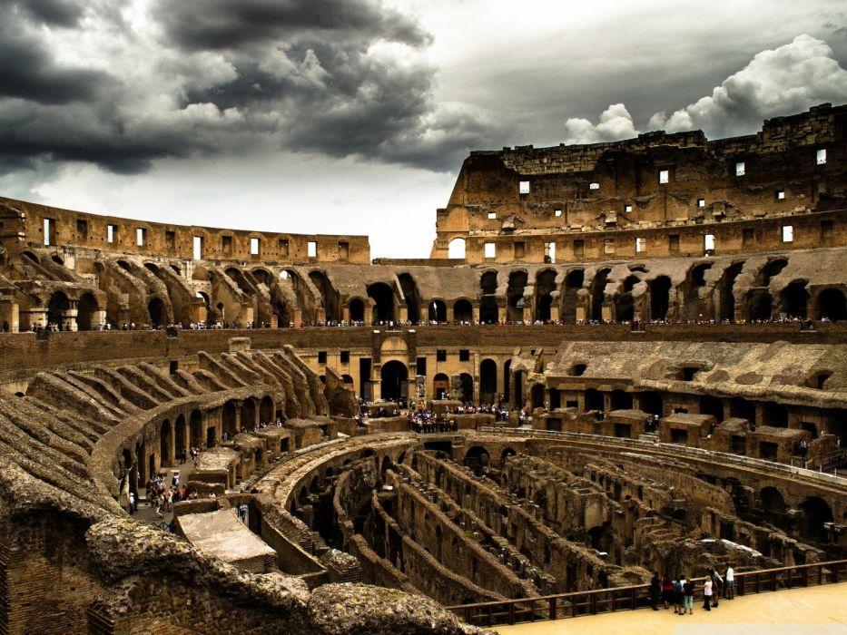 clouds Rome Colosseum wallpaper