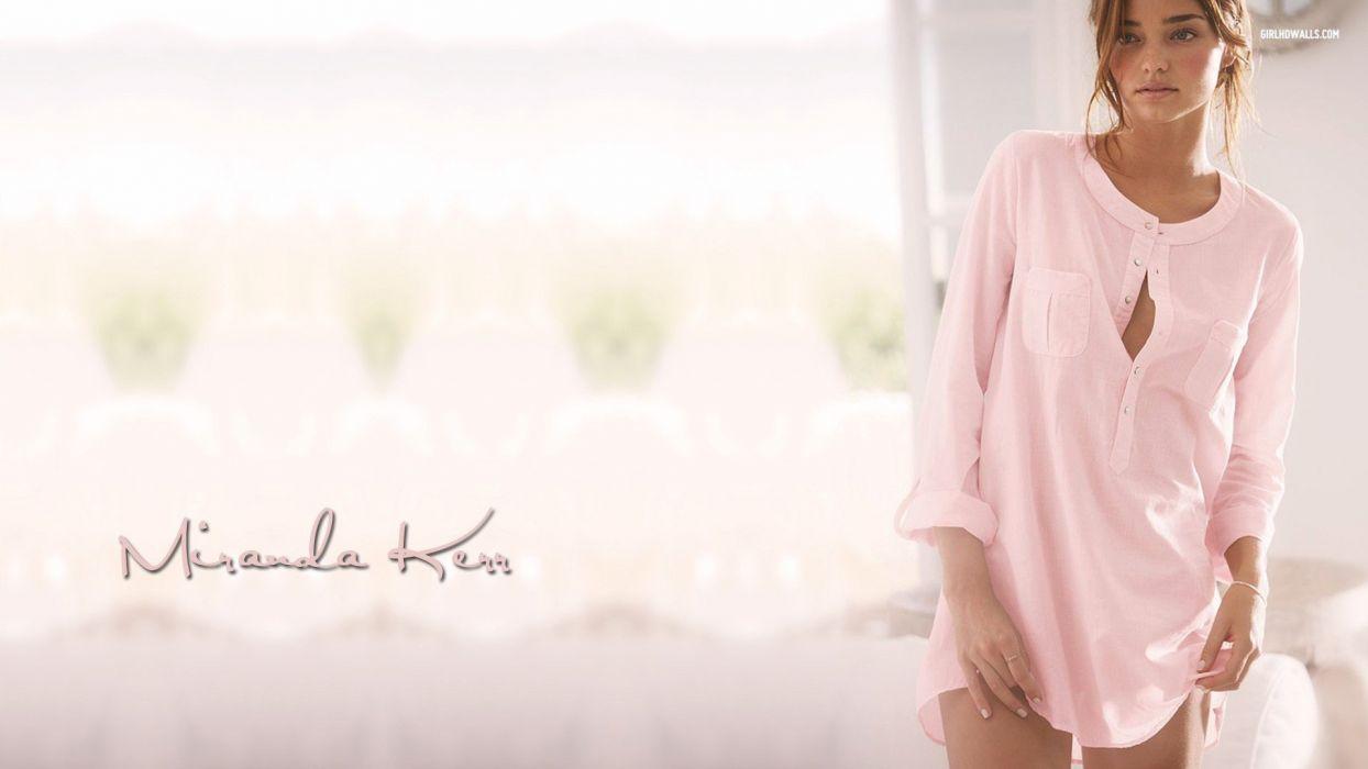 women Miranda Kerr models faces wallpaper
