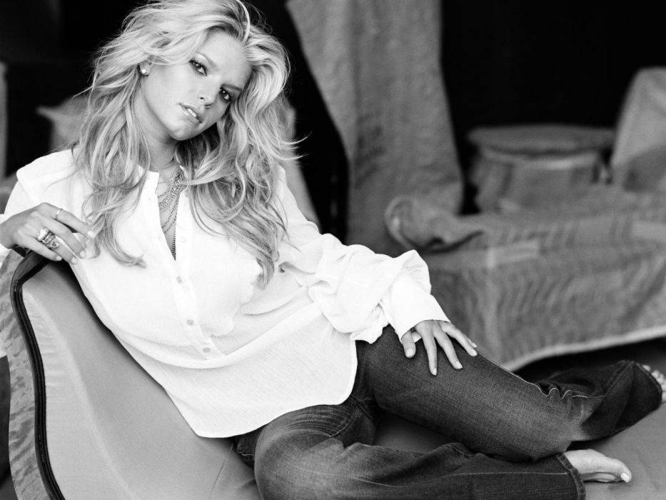 women American jeans actress Jessica Simpson wallpaper