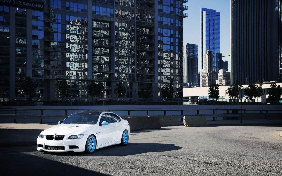 BMW white cars outdoors vehicles parking lot wallpaper