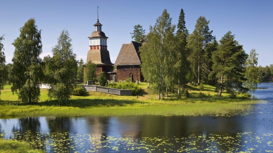 old churches Finland wallpaper