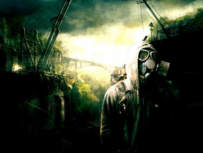 post-apocalyptic gas masks wallpaper