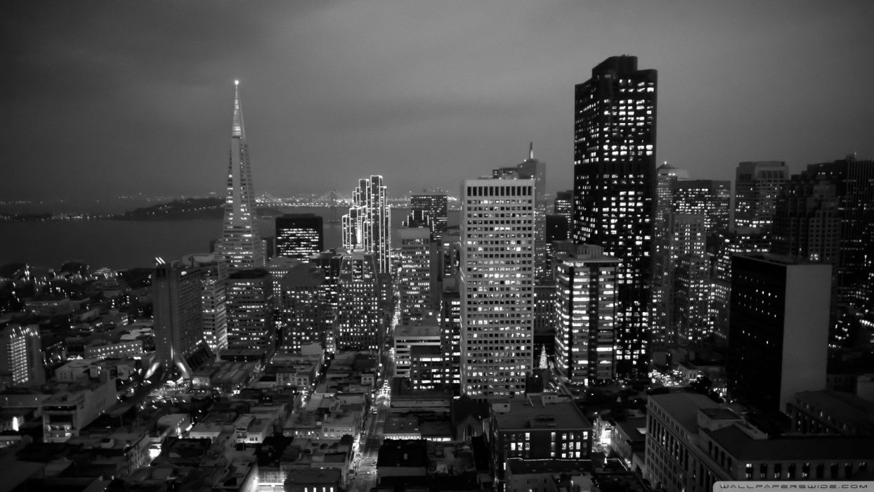 black and white cityscapes wallpaper