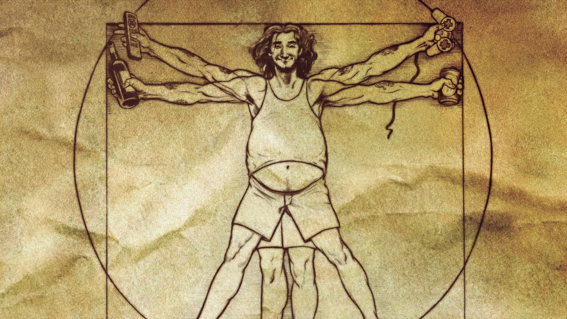 Parody Vitruvian Man wallpaper | 1920x1080 | 333390 ...