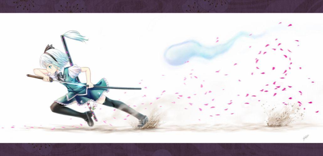 video games Touhou Konpaku Youmu anime girls wallpaper