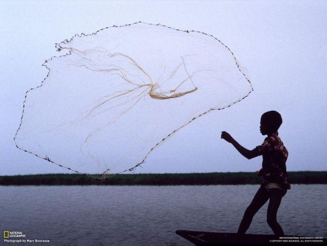 nature National Geographic fishing nets children wallpaper