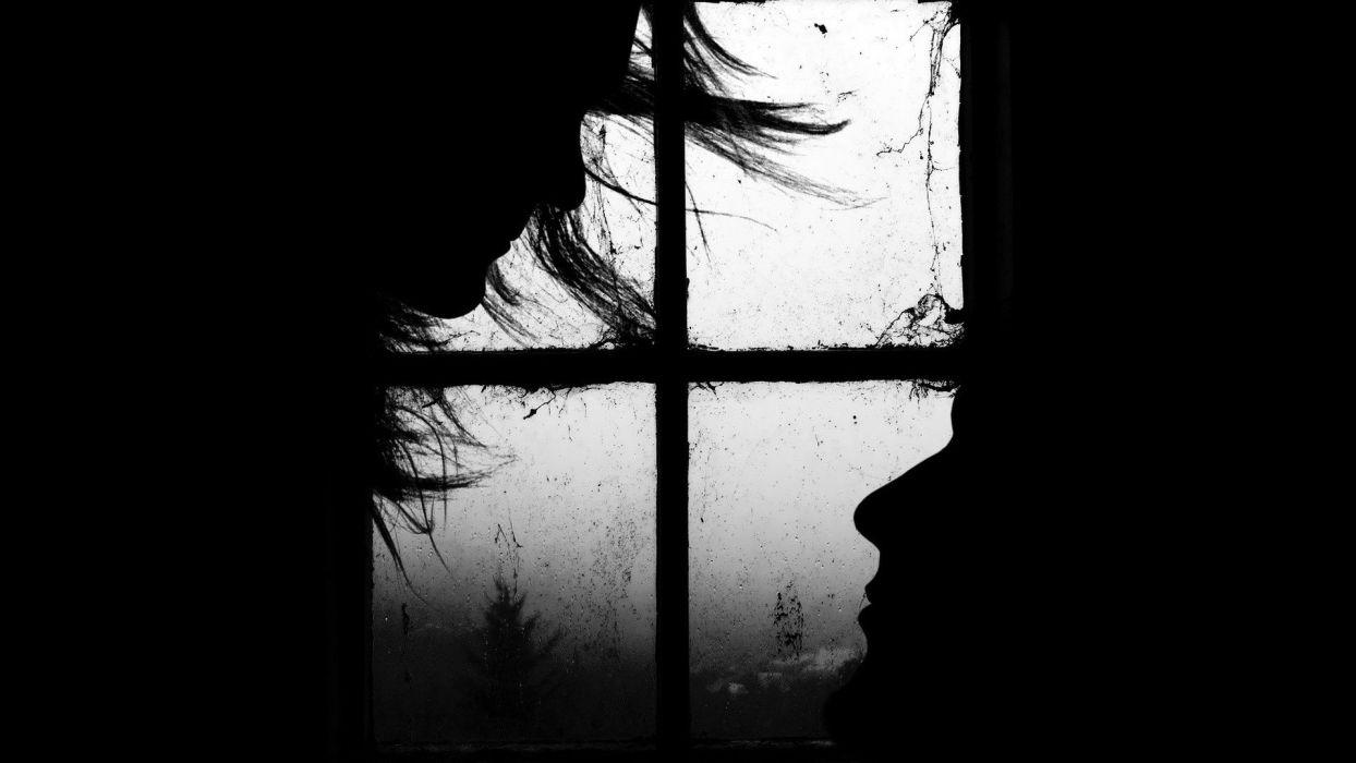 black window window panes wallpaper