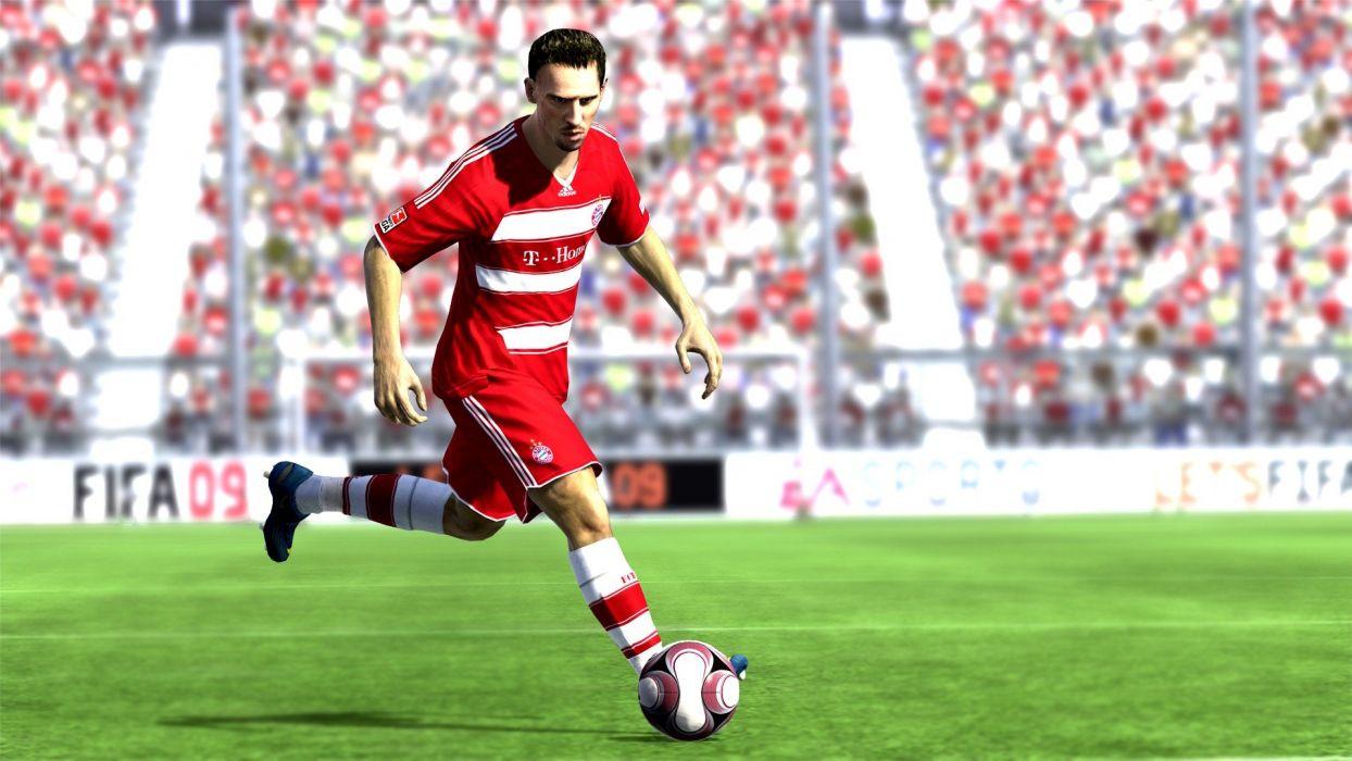 video games soccer EA Games FC Bayern Munich Franck Ribery FIFA fifa game Fifa 09 wallpaper