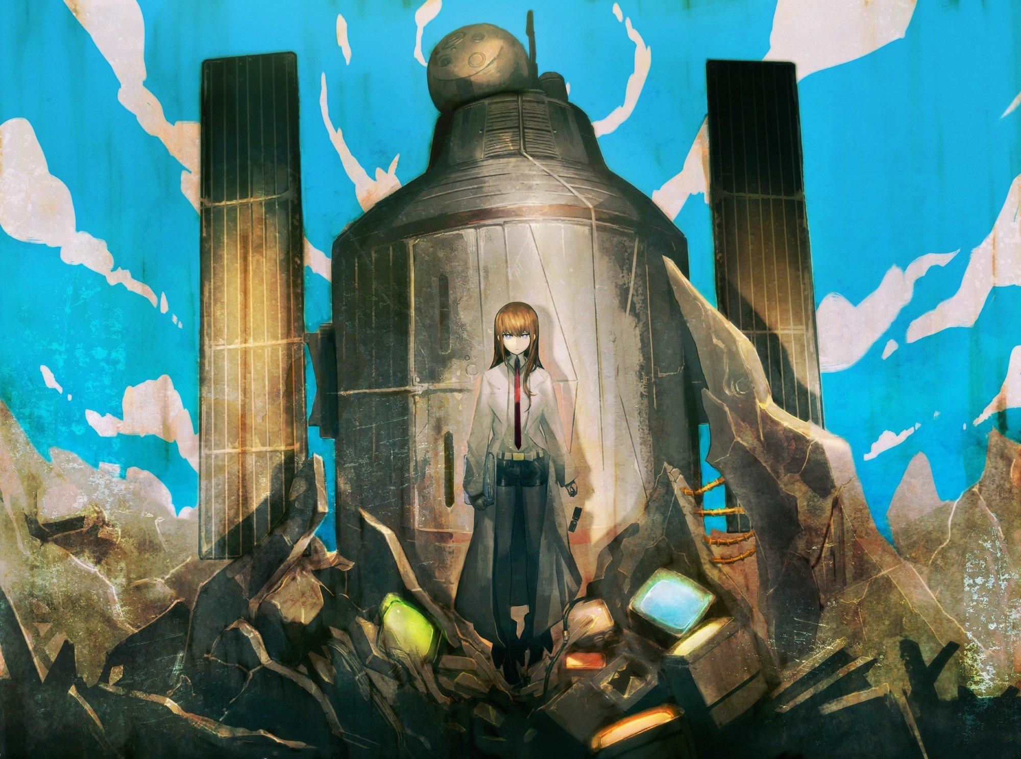 Ruins anime Steins;Gate Makise Kurisu anime girls ...