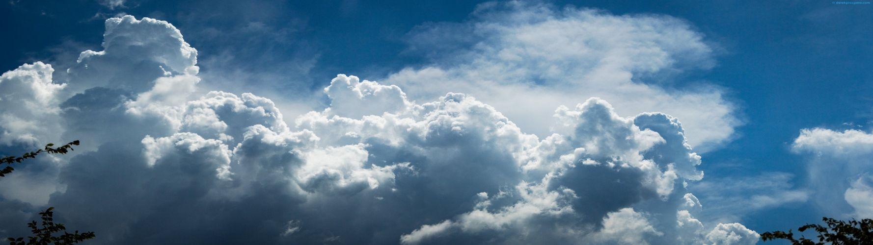 clouds skylines wallpaper
