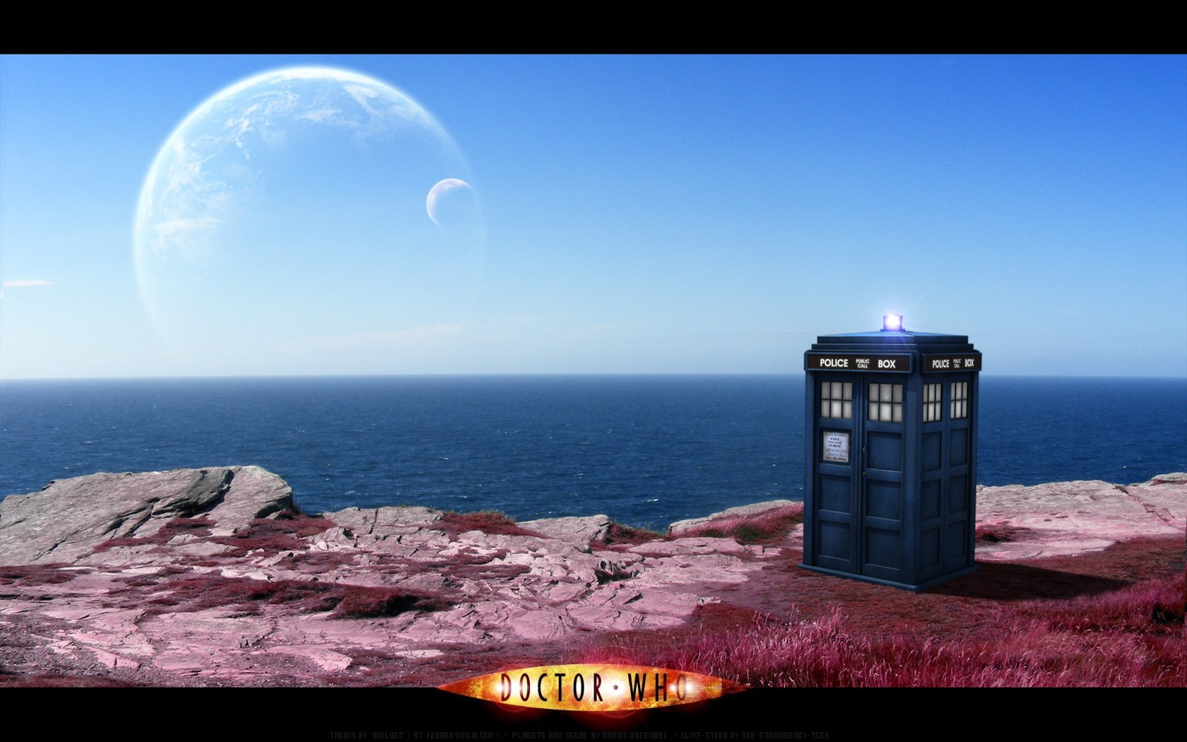 Planets TARDIS Earth fantasy art Doctor Who wallpaper ...