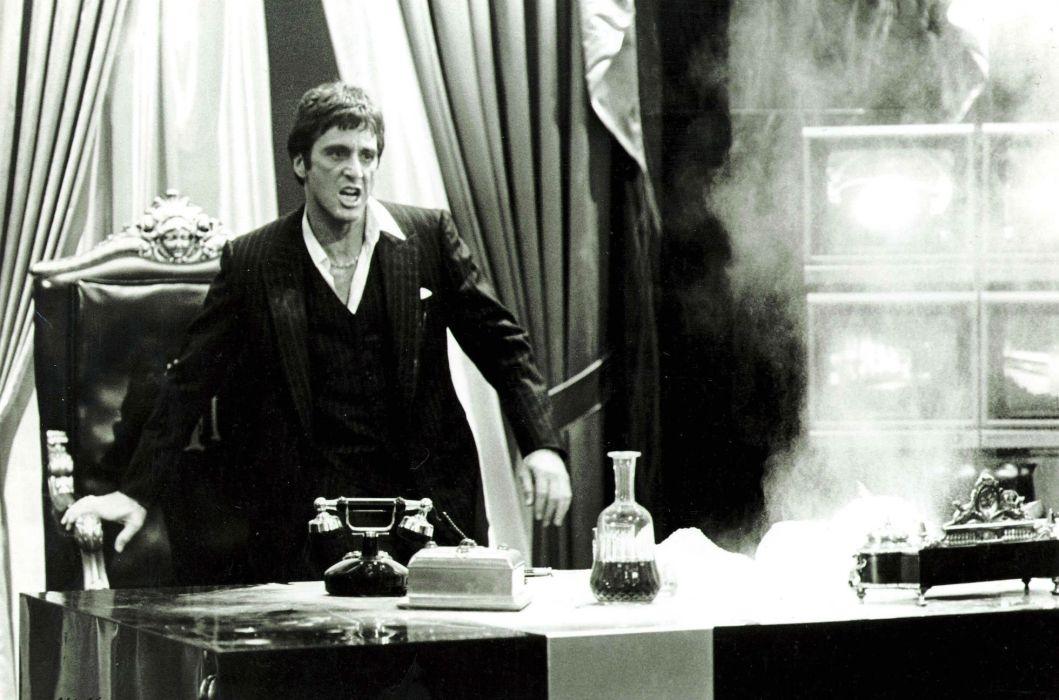 SCARFACE crime drama movie film dark drugs wallpaper