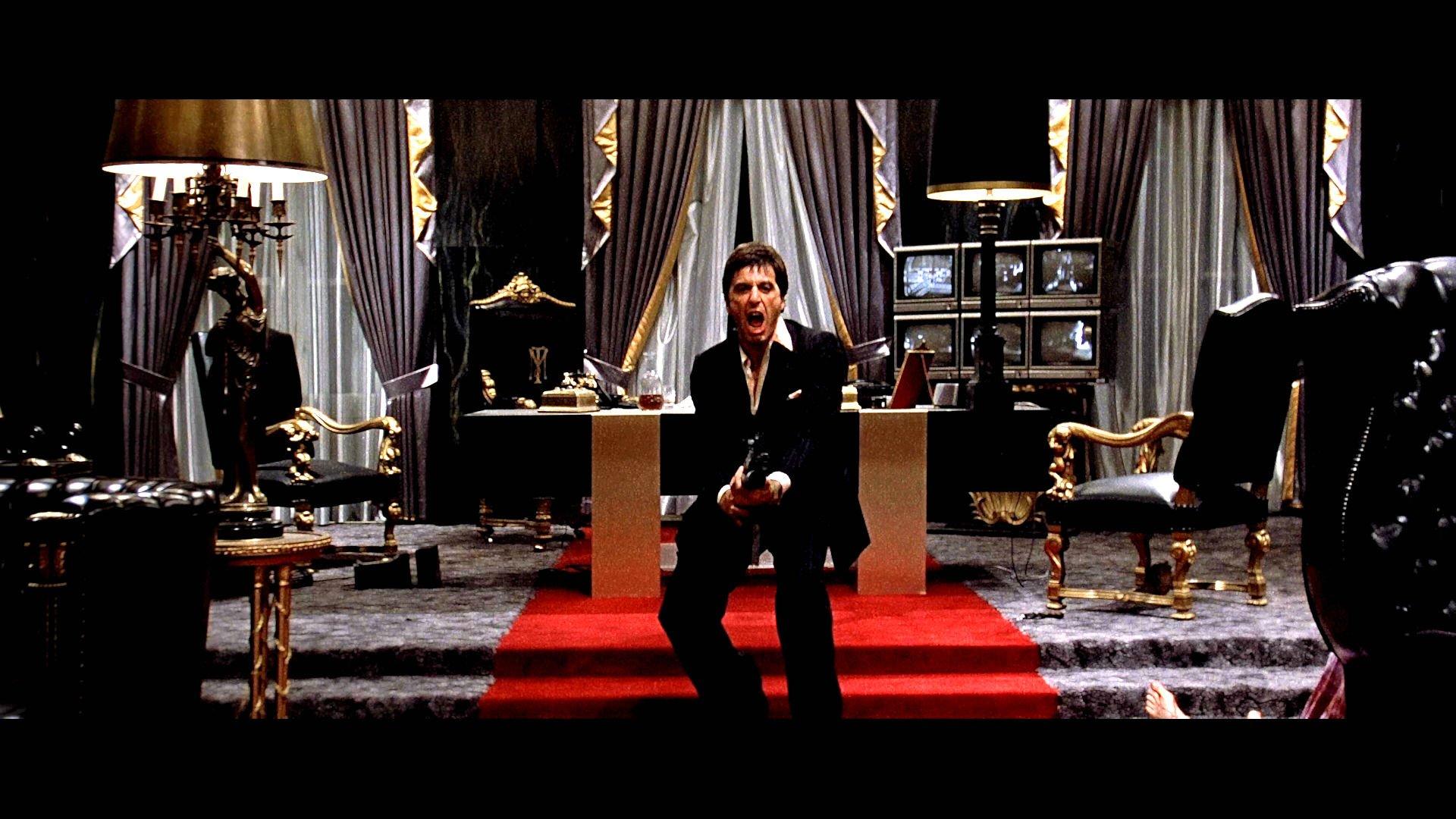 Scarface crime drama movie film battle weapon gun dark - Scarface background ...