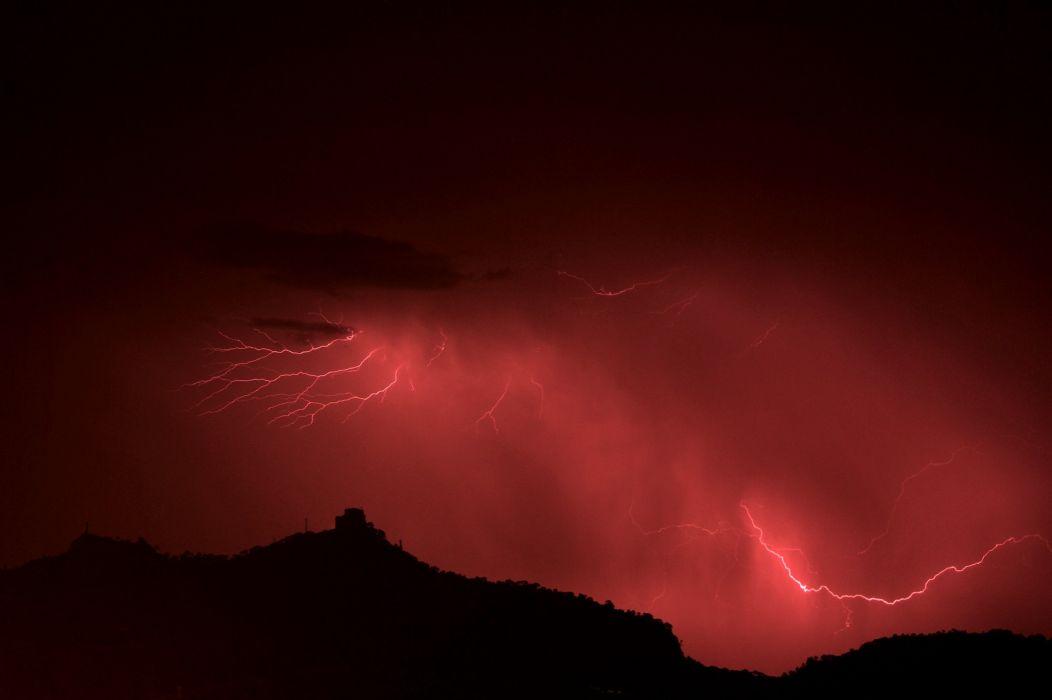 Red Lightning wallpaper