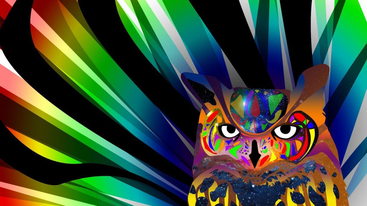 abstract owls wallpaper