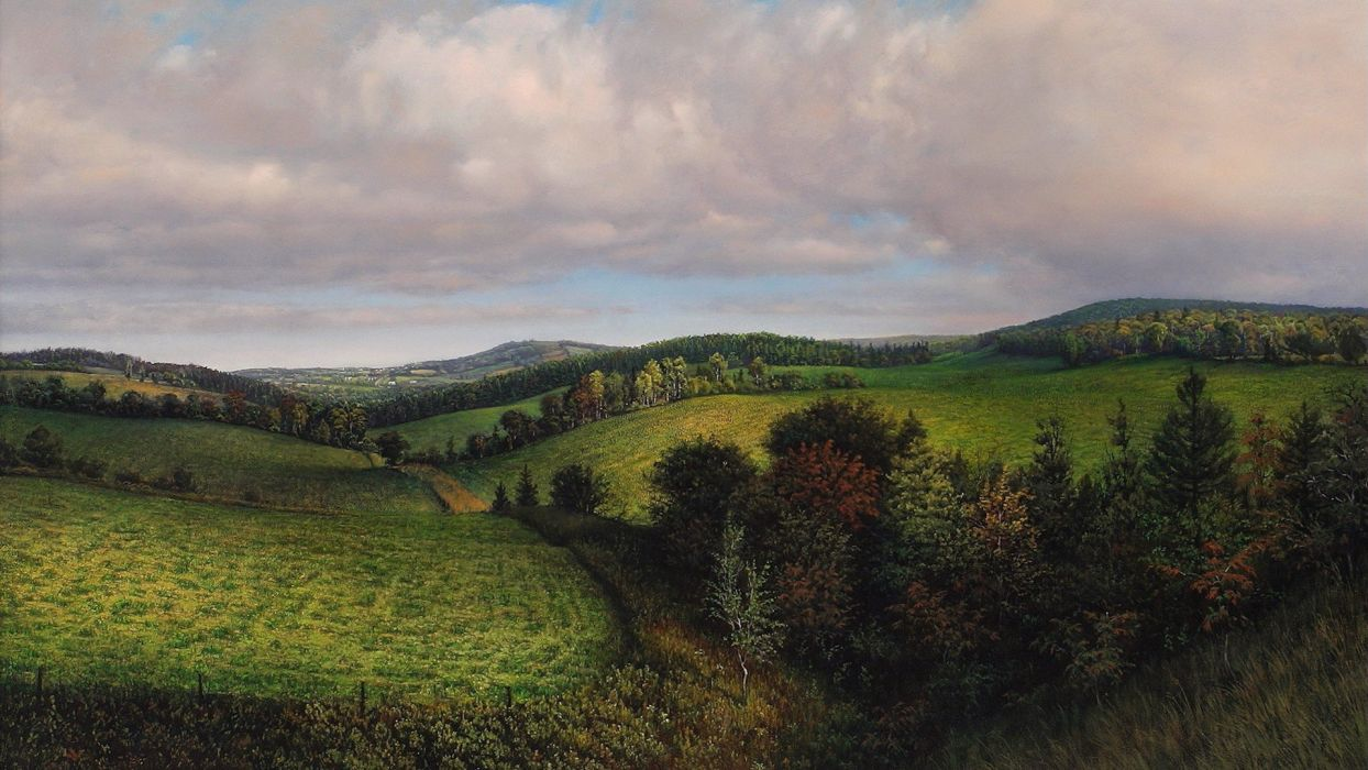 paintings landscapes nature wallpaper
