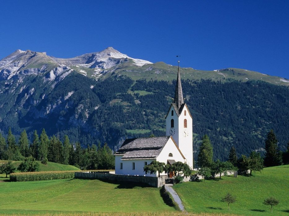 mountains churches wallpaper