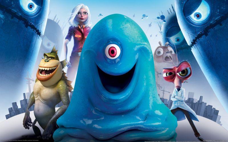 video games Monsters vs_ Aliens wallpaper