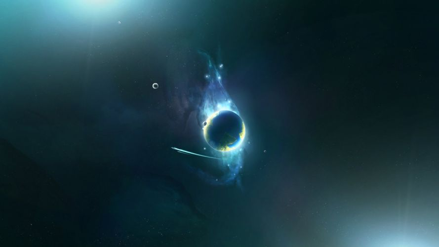 abstract outer space wallpaper