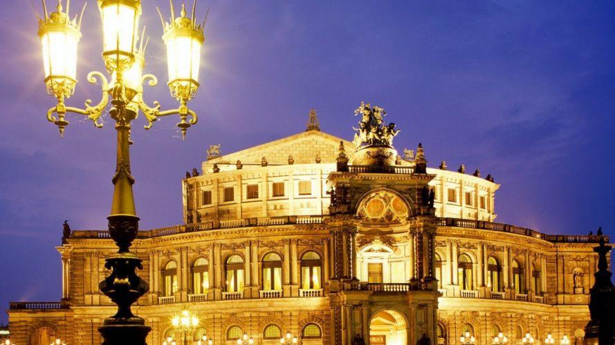 Germany Dresden Semper Opera wallpaper