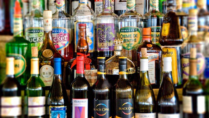 bottles alcohol wallpaper