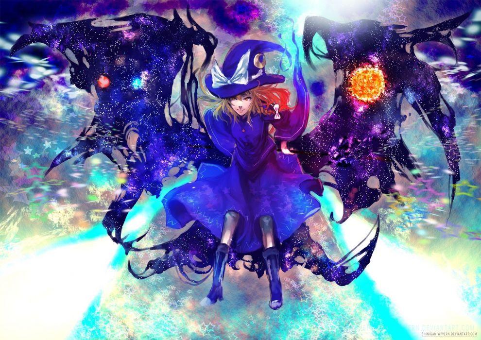 video games Touhou Kirisame Marisa anime girls wallpaper