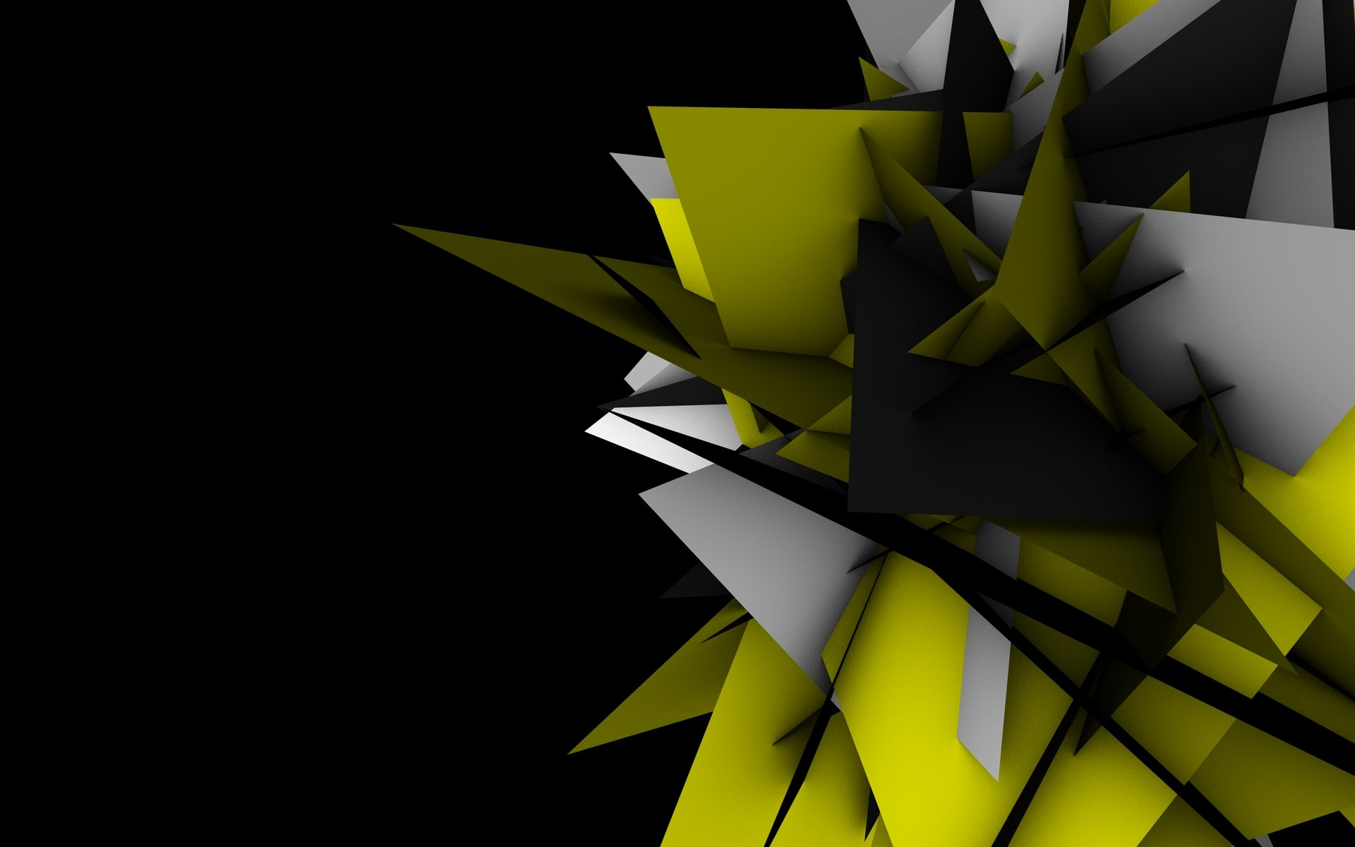 abstract shapes geometry digital art black background wallpaper