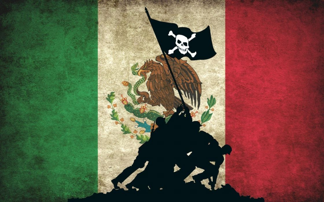 Anonymous pirates flags Mexico hackers wallpaper