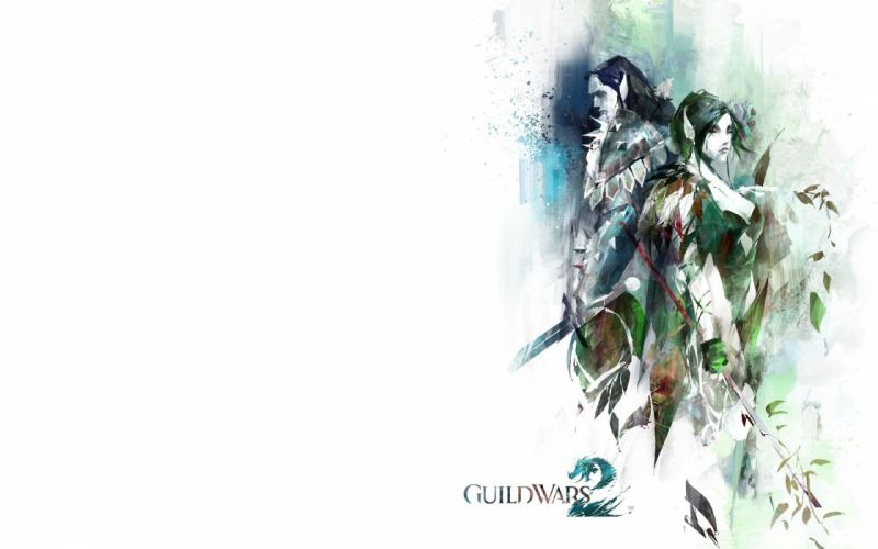 video games Guild Wars 2 simple background wallpaper