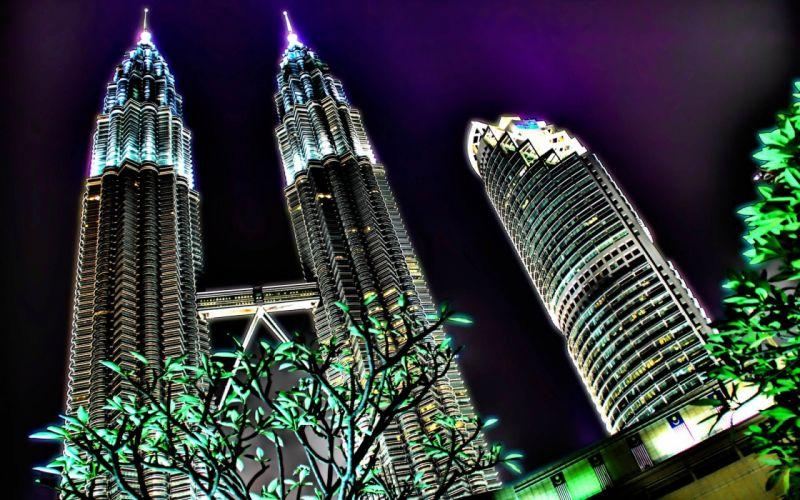 cityscapes architecture skyscrapers Malaysia HDR photography Petronas Towers wallpaper