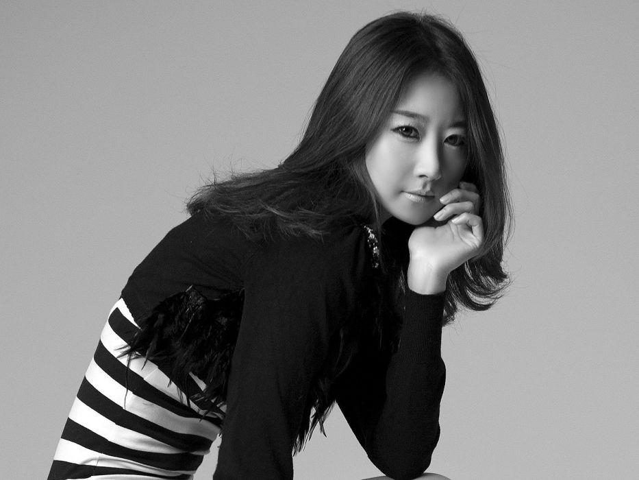 women models Asians monochrome wallpaper