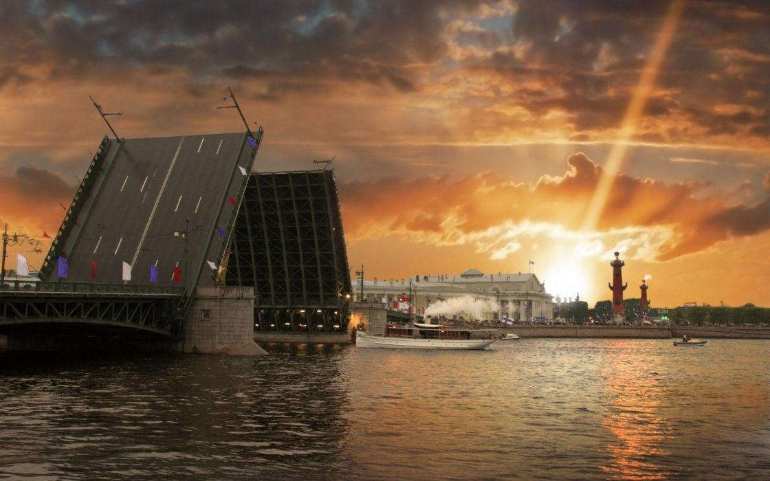 architecture Russia bridges buildings Saint Petersburg wallpaper