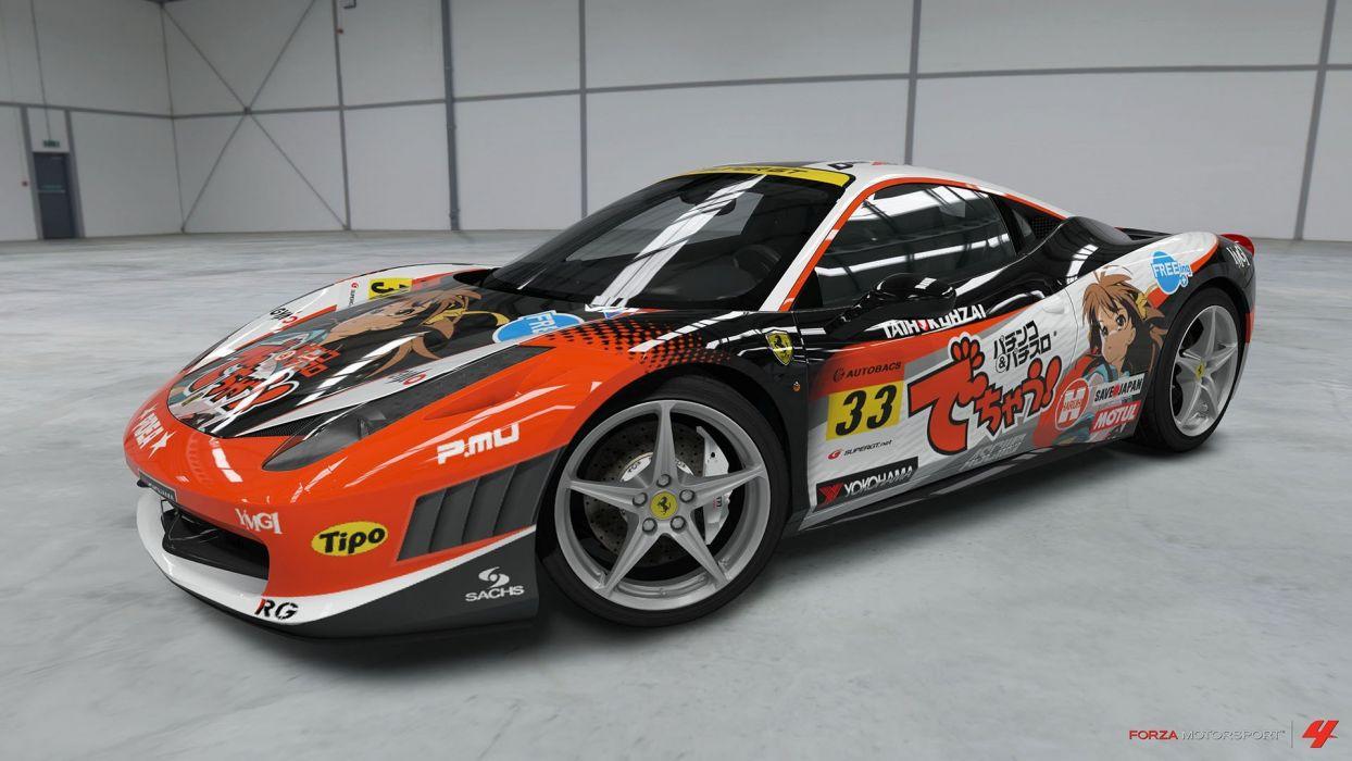 video games cars Ferrari 458 Italia Xbox 360 Forza Motorsport 4 wallpaper