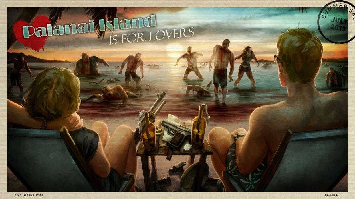 video games zombies artwork survivor Dead Island Riptide beaches wallpaper