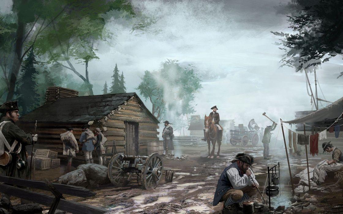 video games artwork Assassins Creed 3 wallpaper