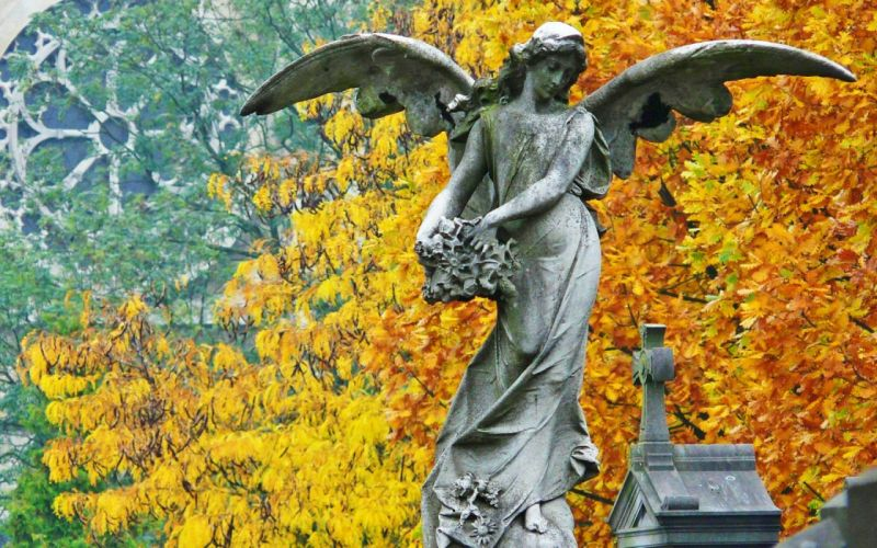 angels tombstones statues wallpaper