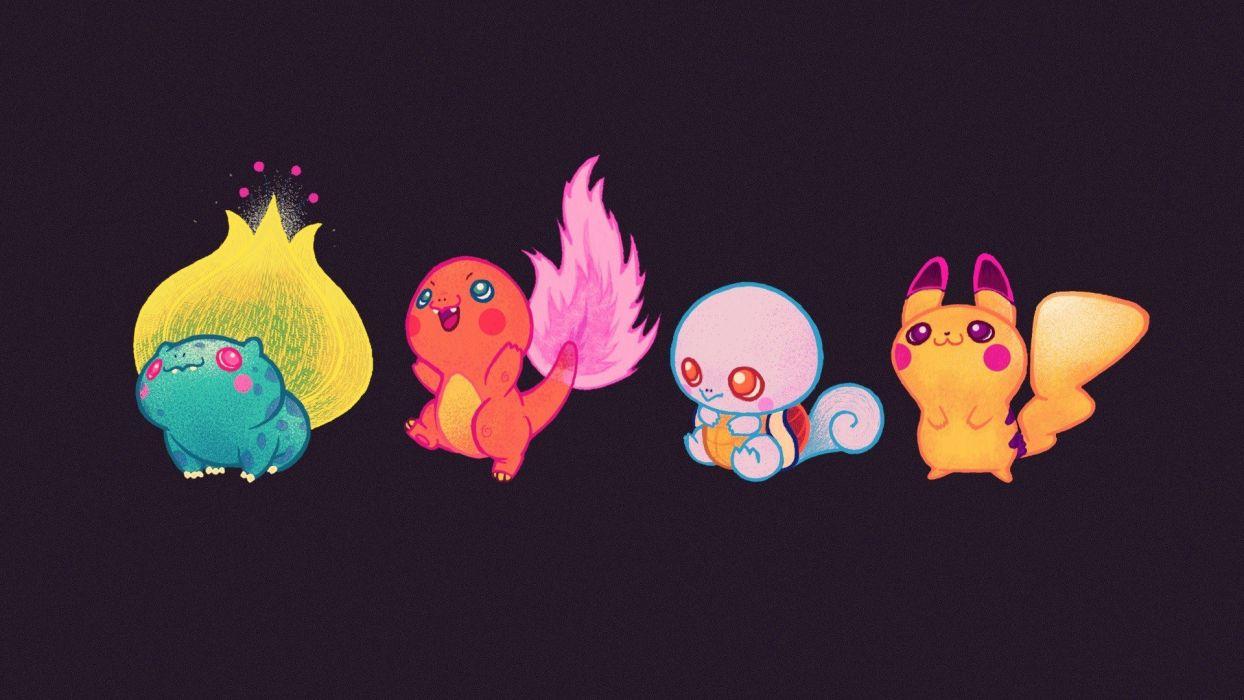 Pokemon Bulbasaur fire Squirtle Charmander starter wather wallpaper