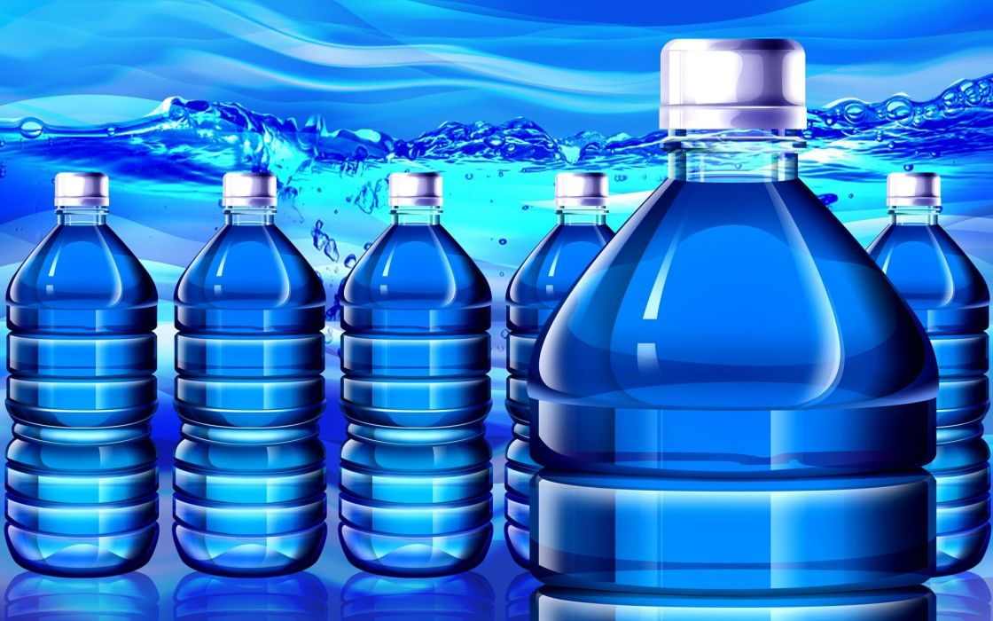 paintings blue multicolor water bottles still life wallpaper