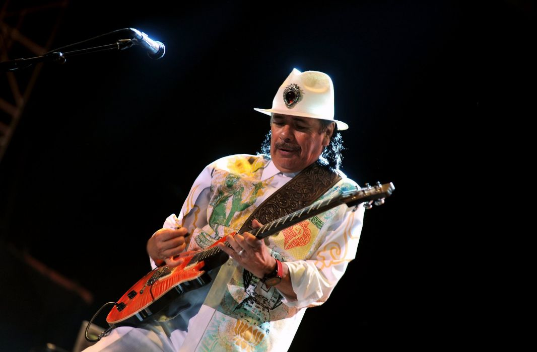 SANTANA latin rock blues chicano hard jazz pop concert guitar wallpaper