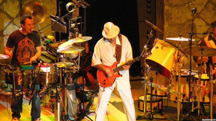 SANTANA latin rock blues chicano hard jazz pop concert guitar wallpaper