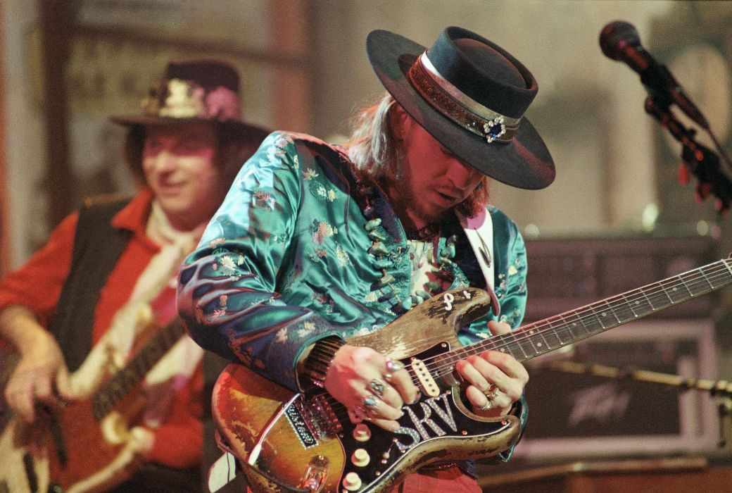 STEVIE RAY VAUGHAN blues rock hard classic guitar concert wallpaper